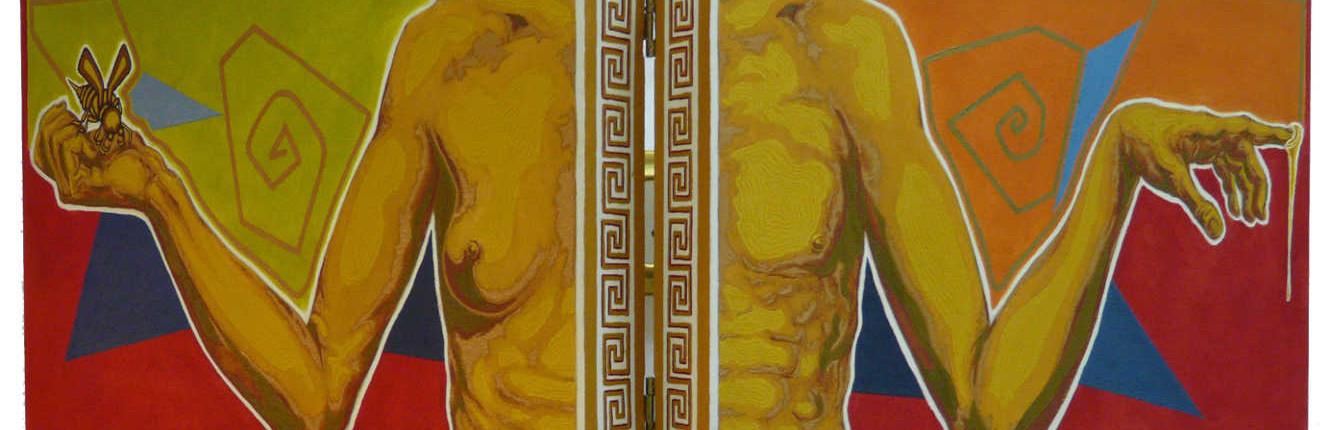 Miroir (huile sur toile, 28 cm x 77 cm)