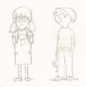 Etudes de personnages: enfants