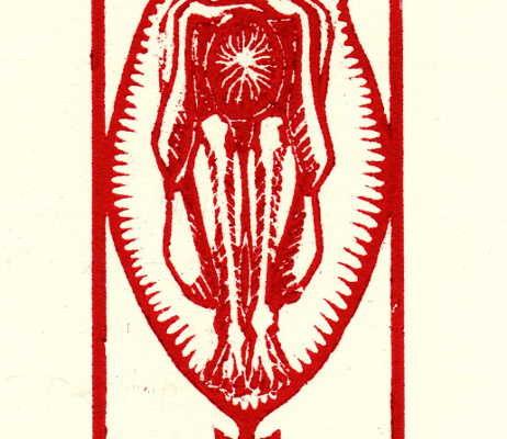 Féminin-masculin, gravure sur bois