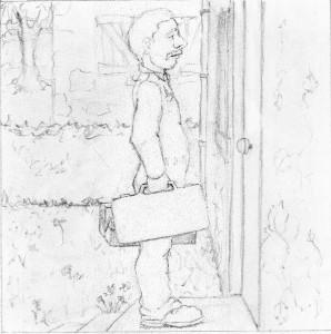 Crayonné de la planche 16 de Léa