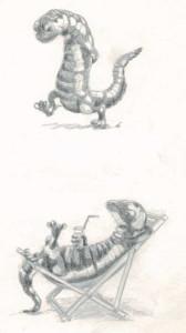 Etudes de personnages: salamandre