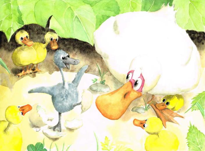 Le Vilain petit canard. Planche 4