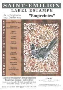 affiche exposition Saint Emilion
