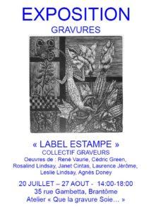 Affiche exposition Brantôme