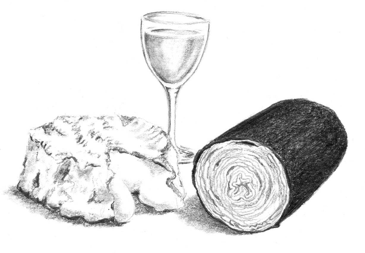 Velouté de camembert et andouille de Vire