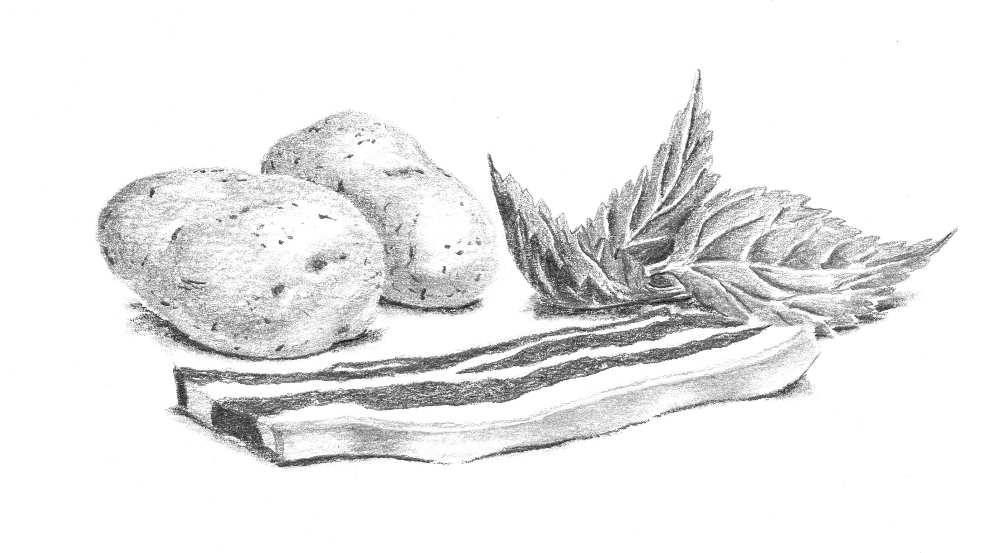 soupe d'orties aux haricots Tarbais et ventre de cul noir bigorre petit traité du haricot